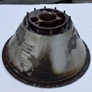 Wetblasting an aircraft gear reduction housing with soda