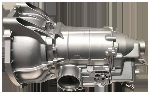 vapour blasted transmission case